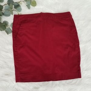 TOMMY HILFIGER Red Cotton Mini Skirt Sz 12